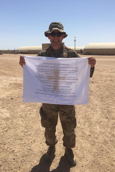 Chaplain Billy Barrow serving in the Middle East