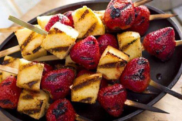 Strawberry Poundcake Kabobs