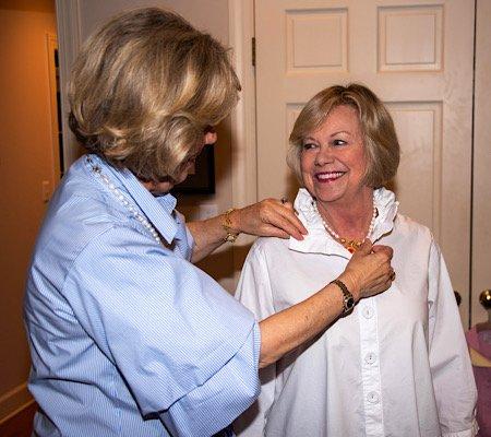 Diane checking fit