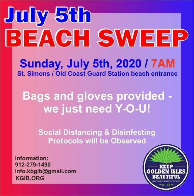 July 6 Beach Sweep