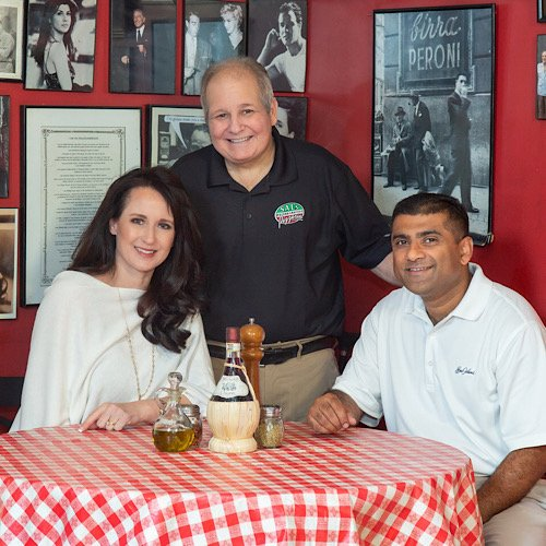Holly and Ameet Shetty with Sal Cenicola