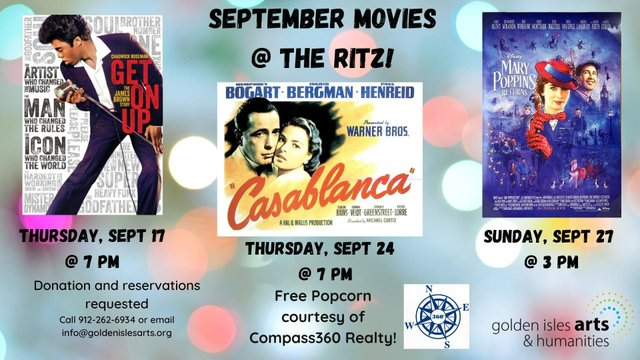 Movies at the Ritz September