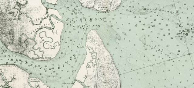 "Detail from a 1892 USGS map showing the use of ""Simon"" between 1891 and 1943."