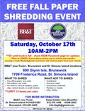 Free Fall Paper Shredding Event 2020