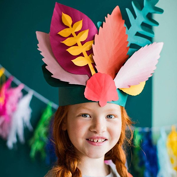 Girl with Thanksgiving headpiece