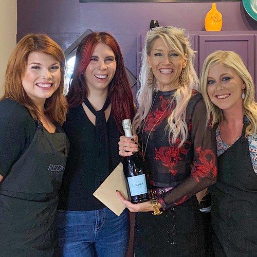 Kristin Hoffman and her staff at J Kris & Co Salon