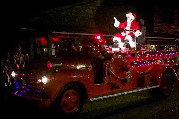 Santa on the Fire Truck 2019