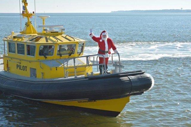 Santa on Pilot boat