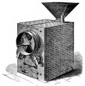 Burns coffee roaster