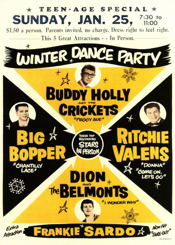Winter dance party poster