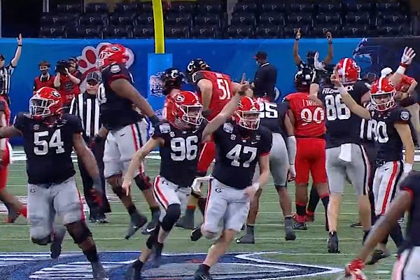 Jack Podlesney Peach Bowl 2021 GA Bulldogs