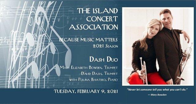 Island Concert Association Feb 9 concert