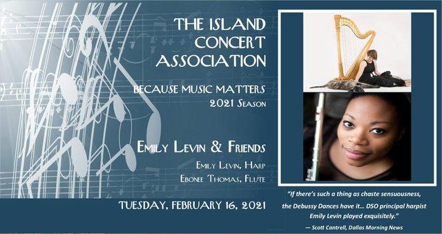 Island Concert Assoc Feb 16 concert