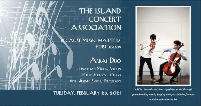 Island Concert Assoc Feb 23 concert