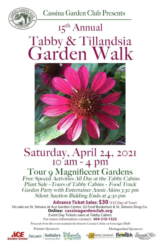 2021 Cassina Garden Walk poster