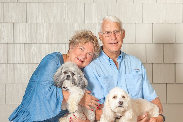 Phoebe and Gene Hoaster with Happy and Snoopy