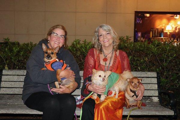Judy Edwards, Sheldon McDougall with Oz, Peaches, and BamBam