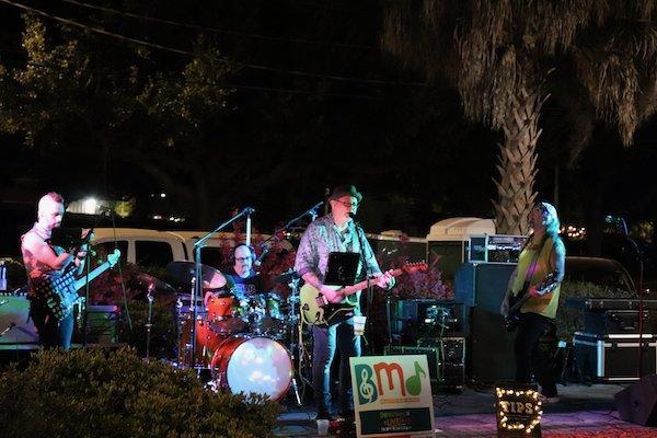 Local band Squirt Gun rockin' the 80s sound.