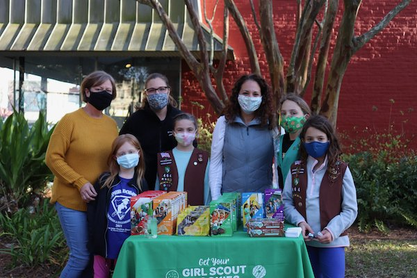Members and family of Girl Scout Troop 464