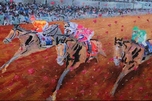 Derby Day painting