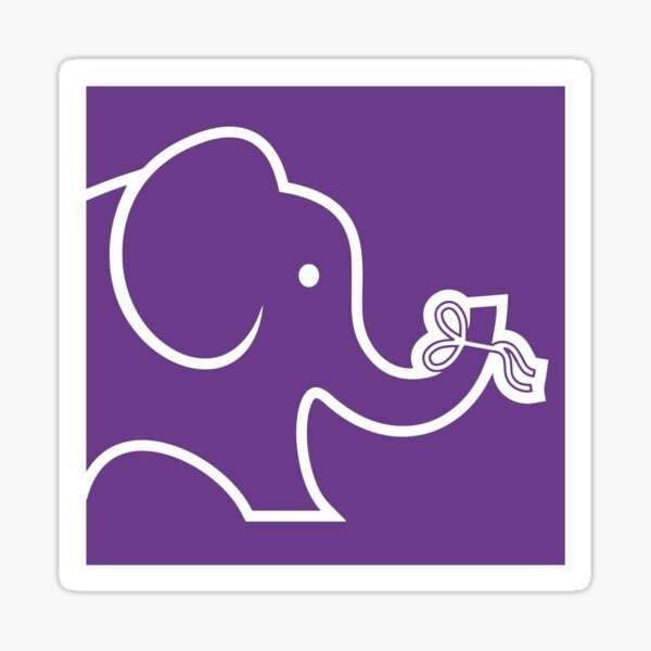 Purple elephant ALZ