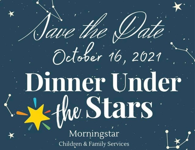 Dinner Under the Stars 2021 Save the Date
