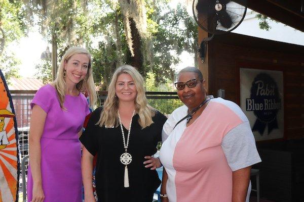 Georgia Alzheimer's Foundation Executive Director Andrea Mickelson, Brooke Baskin, Yolanda Neely