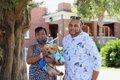 Bonita and Jeffrey Porter with Tico