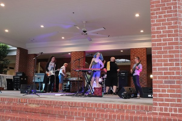 Michaele & The Ambiguous rockin' the stage