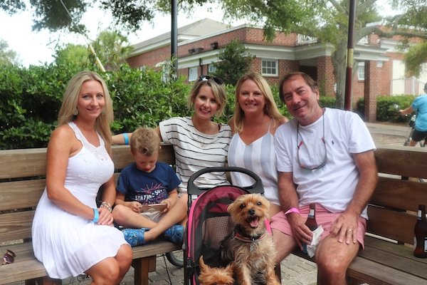 Rosalie Hayes, Dawson King, Renee King, Melissa and Brett Remler with pup Brodie