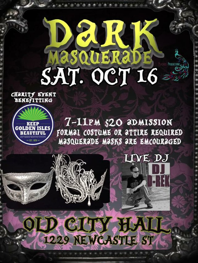 Dark Masquerade flyer