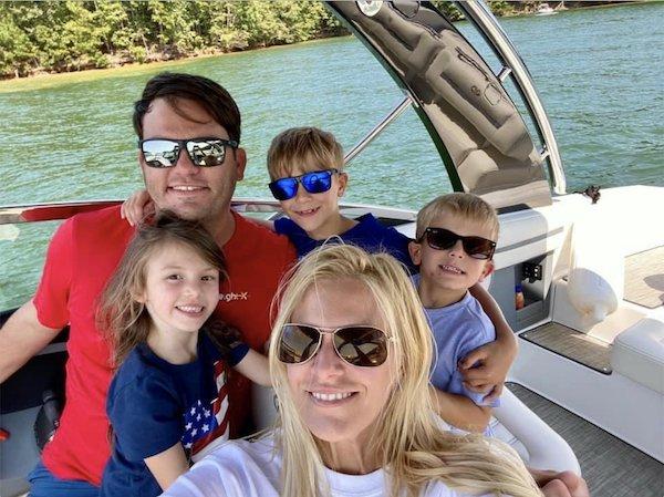 Jonathan and Leesa Stoner with children Easton, Emma Sue, and Eli