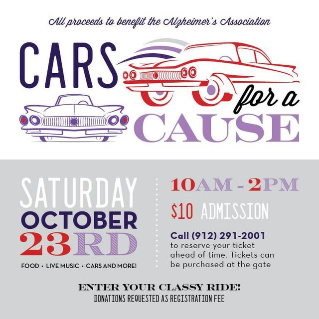 Cars for a Cause 2021 poster
