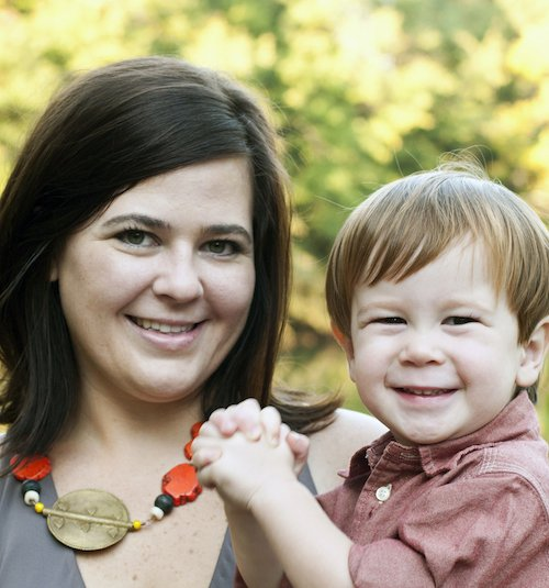 Lisa Kerns with son, Max