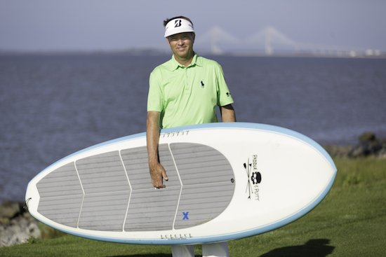 Davis Love III with paddleboard