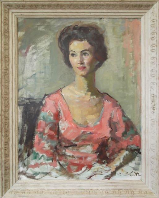 Millie Wilcox portrait by Constantin Chatov