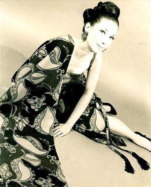 Millie modeling in Rome 1950s