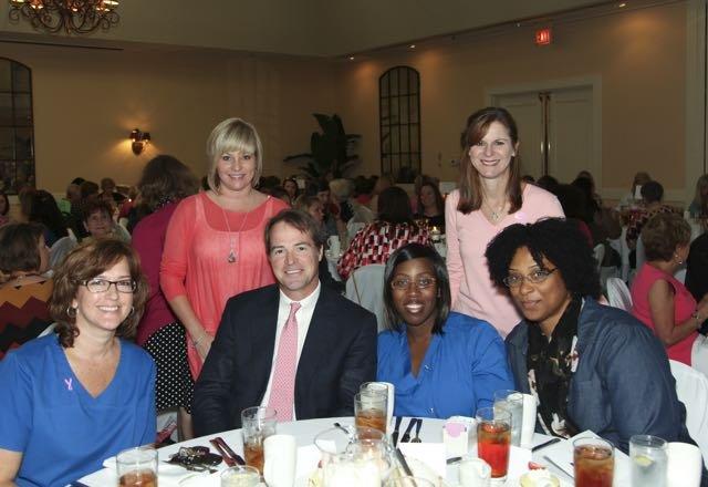 Standing: Angela Arlauskas, Sandra Daniell; seated: Laura Wiggins, Dr. Stephen Barrett, Shumeka Wells, Kelcie Slay
