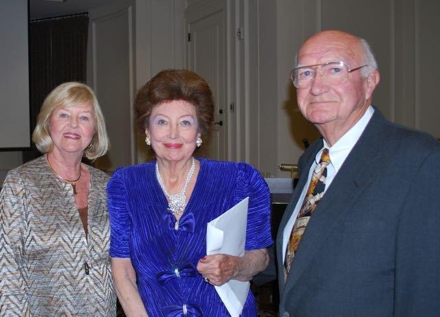 Gail Manning, Mildred Wilcox, Dr. Hubert Manning