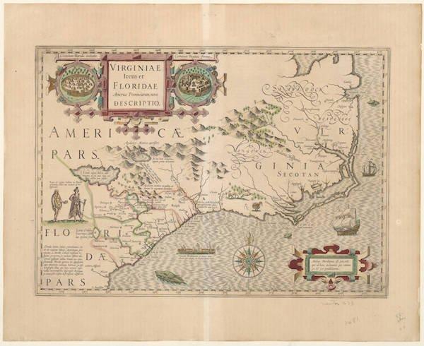 Jodocus Hondius, Virginiae Item et Floridae, circa 1620