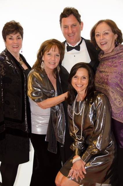 Standing (from left): Char Hillosky, Elizabeth Murphy, Tom McBride, Mary Beth Bruce; seated: Janice Morgan