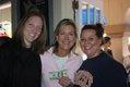 Best Hand winner Katie Swan (center) with Valerie Barnett and Sarah Butler
