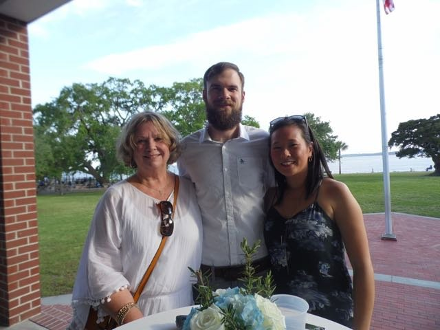 Judy Wallin, John and Ginny Clark