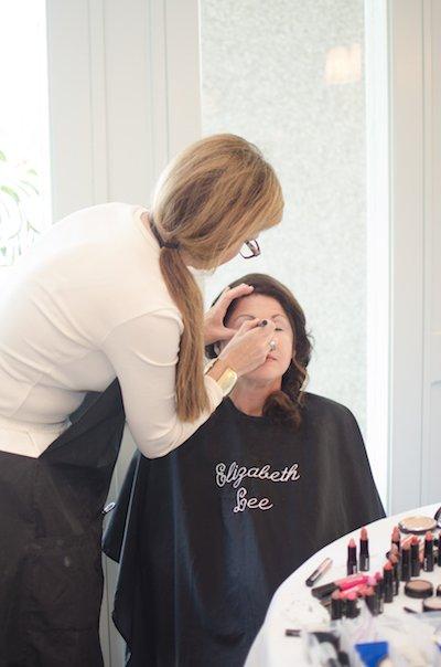 Beth Hall of Elizabeth Lee Makeup works her magic.