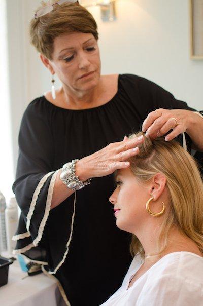 Mary Kicklighter creates amazing curls.