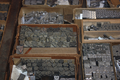 Lead Type in Drawers at Ashtantilly