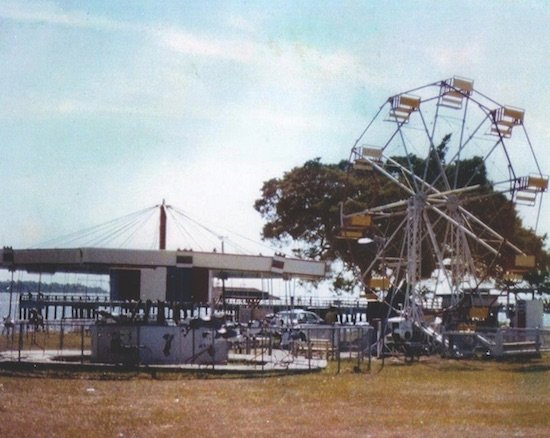 St Simons Village with Ferris Wheel 1950