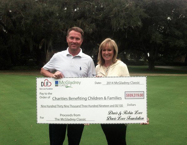 Davis and Robin presenting Foundation check.png