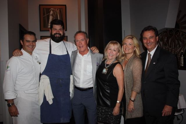 Chef Jonathan Jerusalmy, Chef Dave Carrier, Bill and Molly Norrett, Helen and Don Billings
