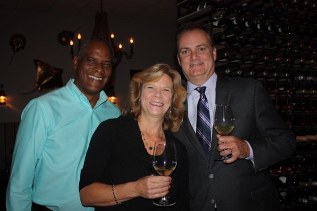 George Jackson, Diane Rousakis, Jeff Flood of Silver Oak Winery